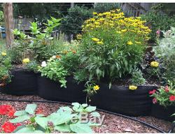 12 Ft. L Fabric Raised Bed Garden Grow Box Planter Vegetable Flower Outdoor New