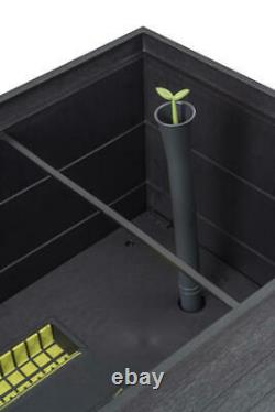 14x32 Brown Resin Rectangle Vegetable Raised Garden Bed Smart Watering System