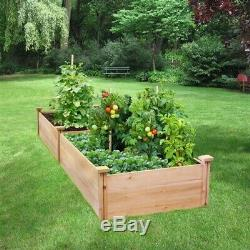 2 ft x 8 ft Cedar Wood Raised Garden Bed Made in USA