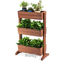 3-Tier Home Garden Plant Raised Bed Vertical Free Stand Elevated Planter Flower