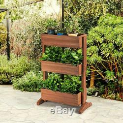 3-Tier Raised Garden Bed Vertical Freestanding Elevated Planter Plant Stands US