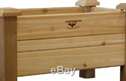 34 x 18 Unfinished Cedar Planter Box Tool-Free Assembly Elevated Garden Bed