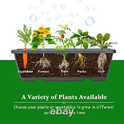 4 FT Vertical Raised Garden Bed 5-Tier Planter Box for Patio Balcony Flower Herb