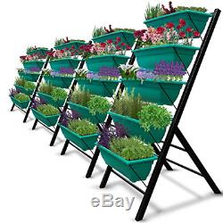 4-Ft Raised Garden Bed Vertical Garden Freestanding Elevated Planters 5 Boxes