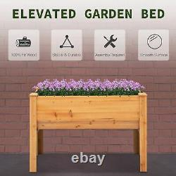 4' x 2' x 3' Wooden Elevated Garden Planter Bed with Unique Funnel Design