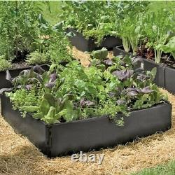 4 x 230L Big Raised Grow Bed Vegetable Garden Growing System Durable Square Pot
