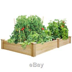 4' x 8' x 10.5 Cedar Raised Garden Bed Flower Vegetable Wooden Planter Gardening