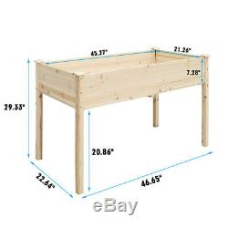 46x22x29 Raised Garden Bed Elevated Wood Planter Box Stand for Backyard Patio