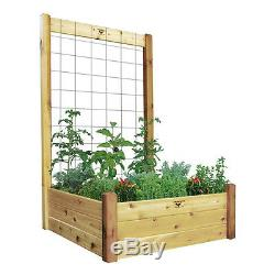 48-48 Raised Garden Bed With Trellis Kit (rgbt-tk 48-48 Grom)