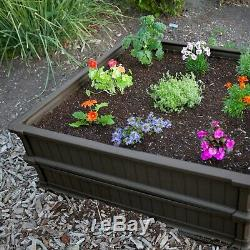 4X4 Raised Garden Bed Kit With Plastic Frost Protection Cover Elevated Planter