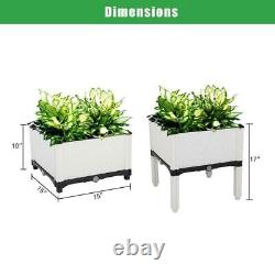 6 PCS Garden Free Splicing Raised Bed Elevated Planting Flower Vegetable Box US