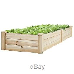 8 x 2 Garden Bed Raised Construction For Growing Plants Vegetables Patio Yard