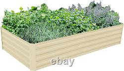 (80Lx40Wx16H in) Galvanized Raised Garden Bed Steel Outdoor Planters EXTRA TALL