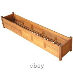 Acacia Wood Planter Box Garden Raised Bed Kits Vegetables Outdoor Plant Herbs