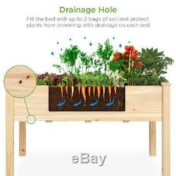 Best Choice Products 48X24X30In Elevated Wood Planter Garden Bed Box Stand For B