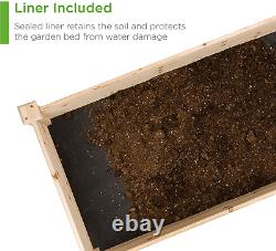 Best Choice Products 96x24x10in Outdoor Wooden Raised Garden Bed Planter for Veg