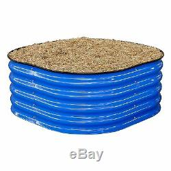 Birdies BLUE ROUND RAISED GARDEN HERB BED Strong Robust Assembly, 900x900x400mm