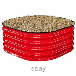 Birdies RED ROUND RAISED GARDEN HERB BED Strong Robust Assembly, 900x900x400mm