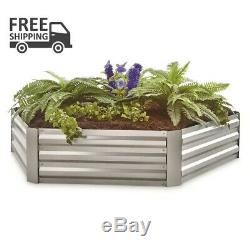 CASTLECREEK Hexagon Galvanized Steel Planter Box