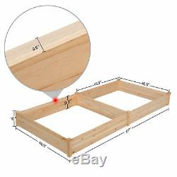 Cedar Raised Elevated Garden Bed Planter Box Kit Corners Vegetable Wooden 92x47