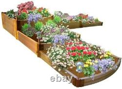 Composite Raised Garden Bed Kit with Snap-lock System, 12 ft. X 12 ft. X 22 in