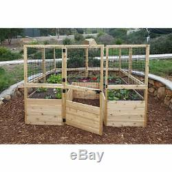 Deer Proof Red Cedar 8' x 8' Raised Garden Bed Complete Kit Free Shipping