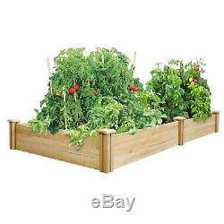 Dovetail Cedar Raised Beautiful Garden Bed Kit 4 ft. X 8 ft. X 10.5 in. Wood New