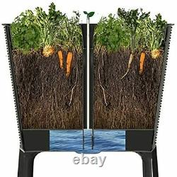Easy Grow 31.7 Gallon Raised Garden Bed with Self Watering Planter Box and Drain