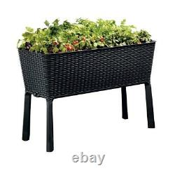 Easy grow 44.9 in. W x 29.8 in. H anthracite raised garden bed