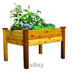Elevated Garden Bed 34 in. X 48 in. X 32 in. Rectangle Safe Finish with Liner