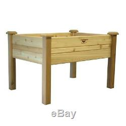 Elevated Garden Bed 34 in. X 48 in. X 32 in. Western Red Cedar with Fabric Liner