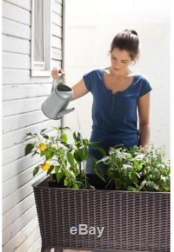 Elevated Garden Bed Raised Grow Box Planter Water Indicator 31 Gal Soil Capacity