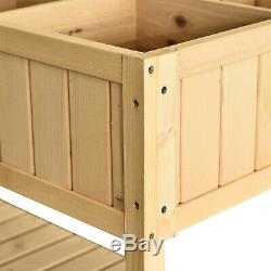 Elevated Garden Plant Stand Flower Bed 8 Grid Box with Storage Shelf