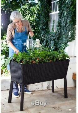 Elevated Garden Raised Bed Weather Resistant, Anthracite 44.9 in. X 29.8 in