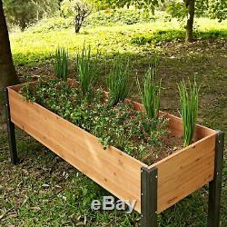 Elevated Outdoor Raised Garden Bed Planter Box 70 x 24 x 29 inch High