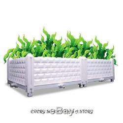 Elevated Plastic Garden Bed Planter Lawn Flower Vegetables Seeds Kit Square Box