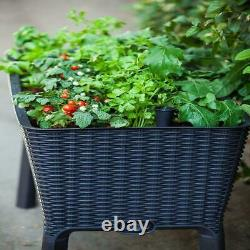 Elevated Resin Garden Raised Bed Weather Resistant 44.9 in. X 29.8 in. NEW USA