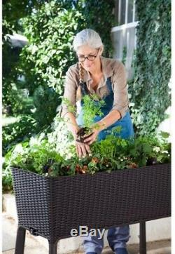 Elevated Resin Garden Raised Bed Weather Resistant, Brown 44.9 in. X 29.8 in