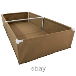 Fabric Raised Garden Bed (4' x 8' x 1.5') Kit with Double Trellis Fittings