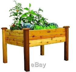 Finish Elevated Garden Bed Raised Planter Vegetable Box Flower Kit Elevated