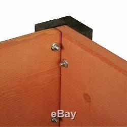 Fir Wood Raised Garden Bed 40L x 20D x 29H in Yard Balcony Plants Patio Home New