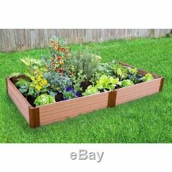 Frame It All 1-inch Series Composite Raised Garden Bed Kit 4ft. X 8ft. X 11in