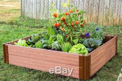 Frame It All Classic Sienna Raised Garden Bed 4' x 4' x 11 1 profile