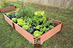 Frame It All Composite Board Raised Garden Beds 4' x 8' x 11 2 Classic