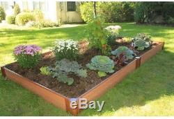 Frame It All One Inch Series 4 Ft X 8 Ft. X 5.5 Composite Raised Garden Bed Kit