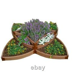 Frame It All Raised Garden Bed Kit Expandable Star Shape Composite Wood Brown