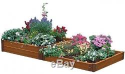 Frame It All Two Inch 4 ft. Composite Terraced Raised Garden Bed Kit Expandable