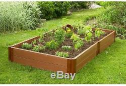 Frame It All Two Inch Series 4 ft. X 8 ft. X 11 in. Composite Raised Garden Bed