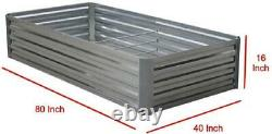 Galvanized Raised Garden Bed (80Lx40Wx16H Inch) Steel Outdoor Plant EXTRA TALL