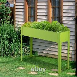 Galvanized Raised Garden Bed Planter Boxes Outdoor With Legs Flower Pot 40x13